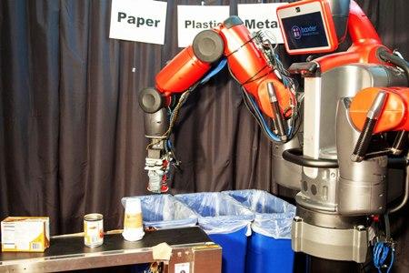 رباتی که مواد بازیافتی را دسته بندی کنند.