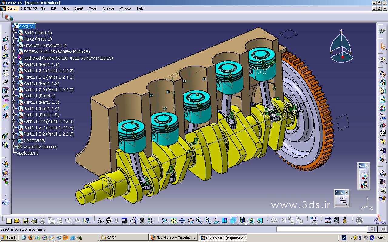 محیط assembly Design در نرم افزار کتیا