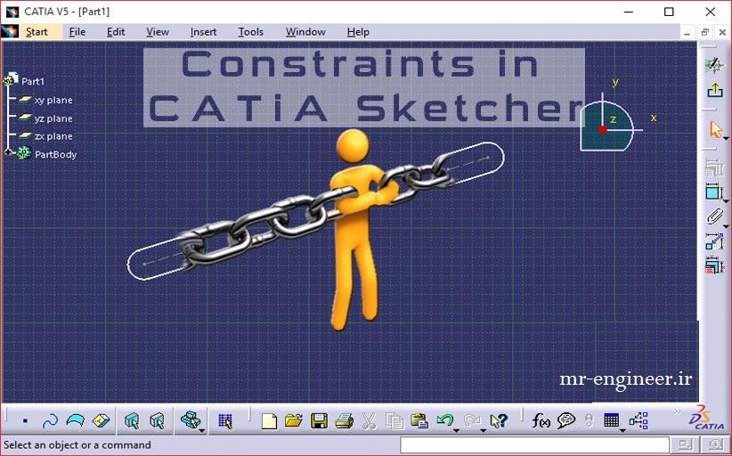 آموزش 0 تا 100 محیط sketcher کتیا