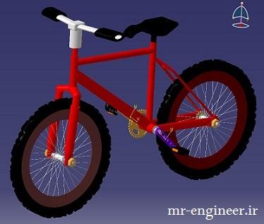 پروژه مدل ساری دوچرخه در کتیا