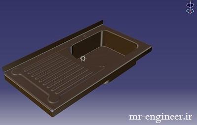پروژه مدل سازی سینک در کتیا