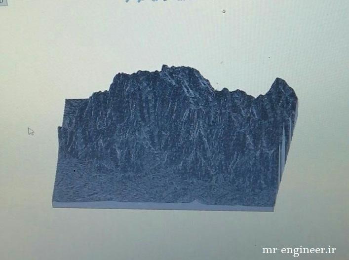 پروژه مدل سازی کوه پرآو در سالیدورک