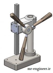 پروژه مدل سازی دستگاه پانچ در سالیدورک