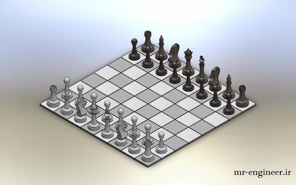 پروژه مدل سازی شطرنج در سالیدورک