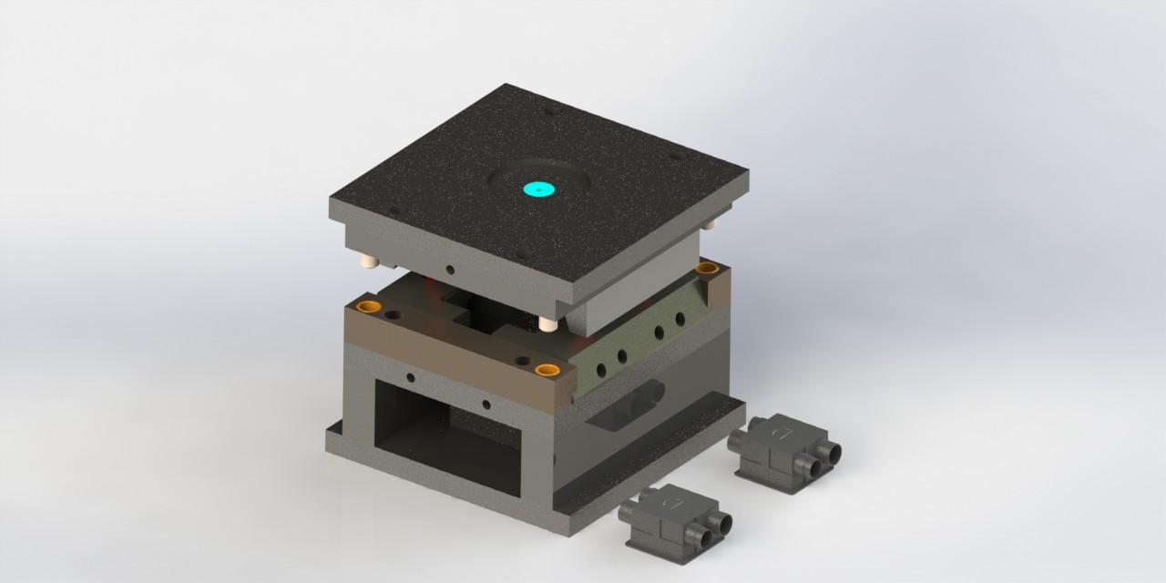 پروژه مدل سازی قالب تزریق سوکت برق