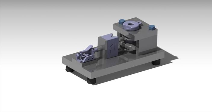 پروژه مدل سازی فیکسچر با مکانیزم کلمپ