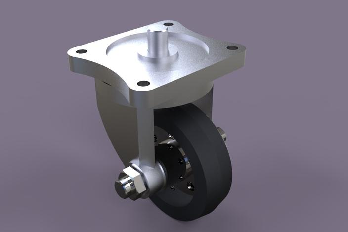 پروژه مدل سازی چرخ کاستور
