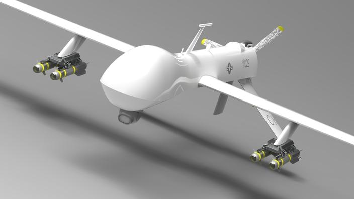 آموزش طراحی هواپیمای بدون سرنشین MQ-1