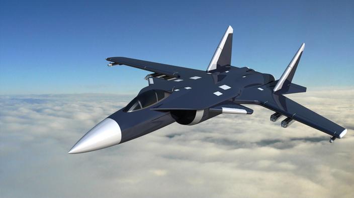 پروژه مدل سازی هواپیمای جنگنده S-37