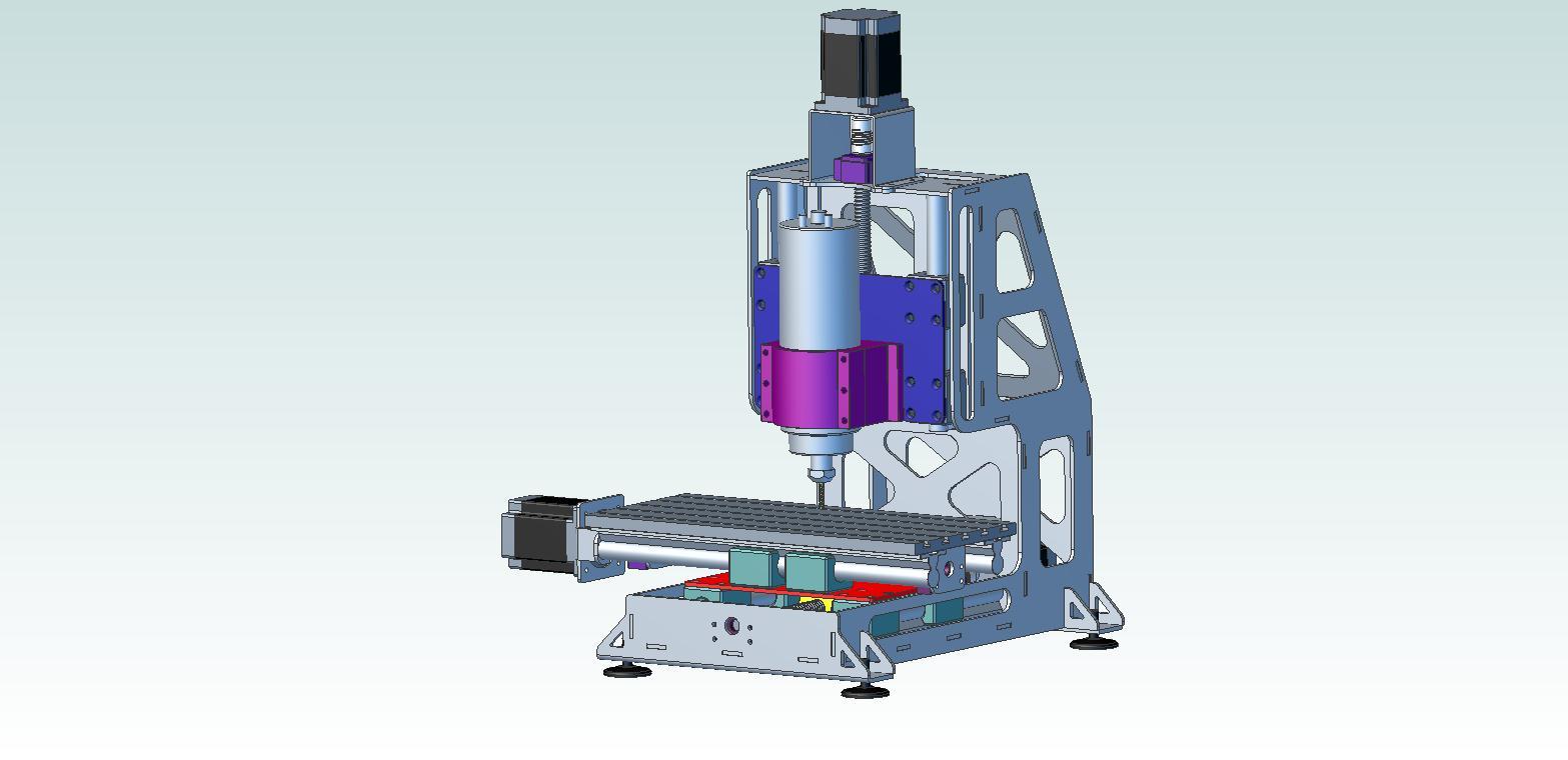 پروژه مدل سازی فرز cnc کوچک