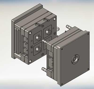 پروژه مدل سازی قالب پریز برق