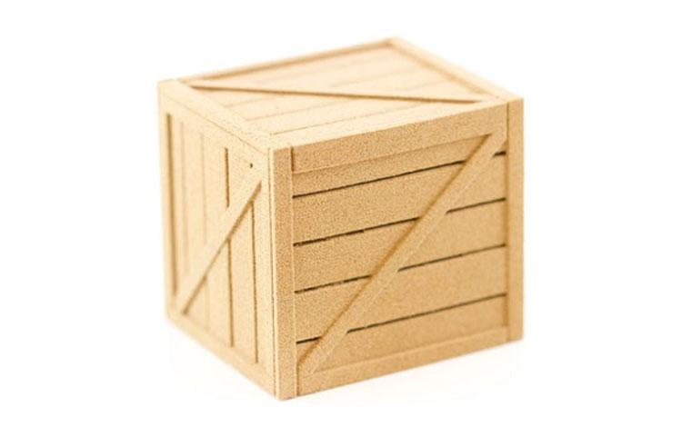 صندوق چوبی مکعبی کوچک ساختهشده از پرینتر سه بعدی چوبی