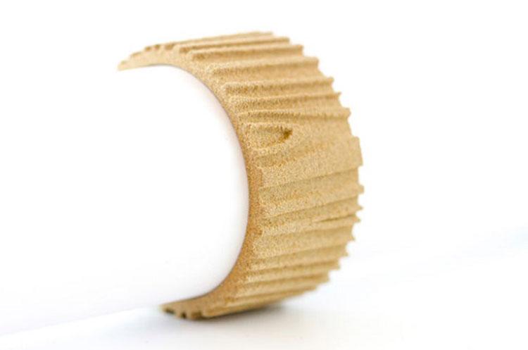 دست بند چوبی ساختهشده از پرینتر سه بعدی چوبی