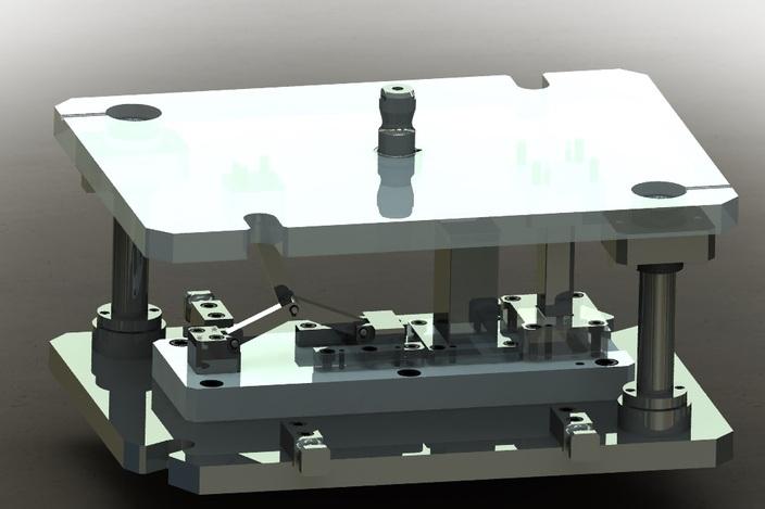 پروژه مدل سازی قالب سنبه با مکانیزم اهرم