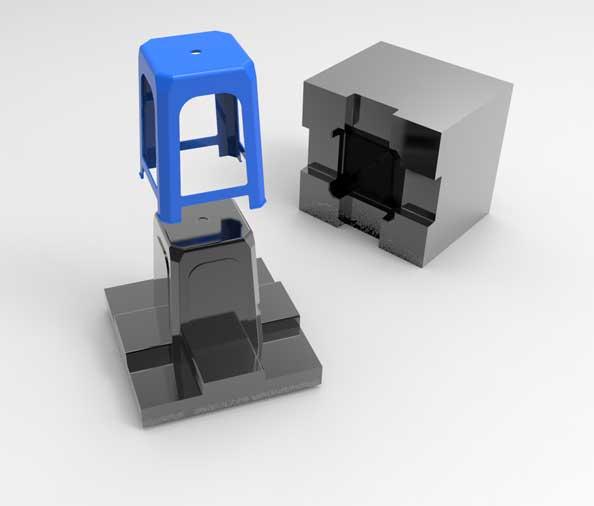پروژه مدل سازی قالب تزریق پلاستیک صندلی