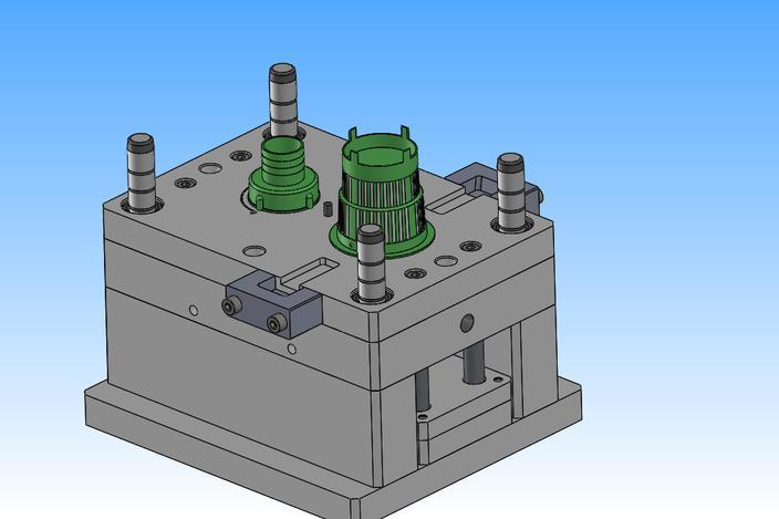 پروژه مدل سازی قالب تزریق برای تولید ۳ قطعه مختلف