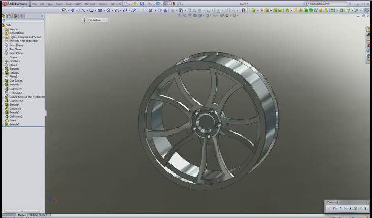 فیلم آموزشی طراحی رینگ ماشین در سالیدورک