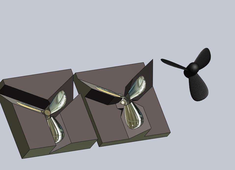 پروژه مدل سازی قالب پروانه