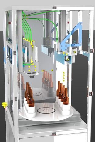 پروژه مدل سازی ماشین نیمه اتوماتیک بطری پر کن
