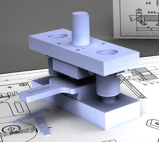 پروژه مدل سازی قالب پانچ