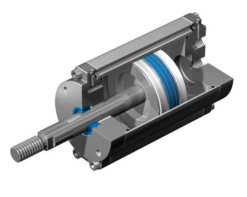 پروژه مدل سازی سیلندر پنوماتیکی