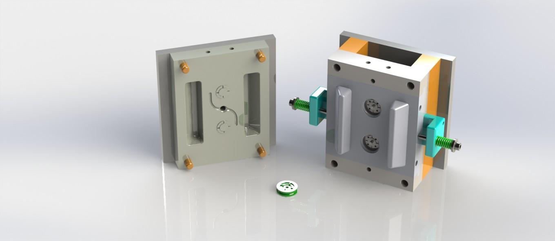 پروژه مدل سازی قالب تزریق پلاستیک یک قطعه پولی دوار