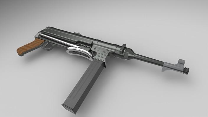 پروژه مدلسازی مسلسل MP40 در سالیدورکز با کیفیت عالی