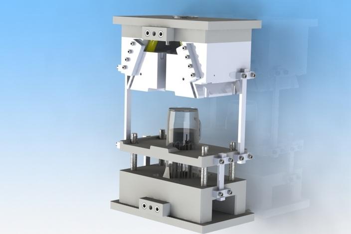 پروژه مدلسازی قالب تولید پارچ آب