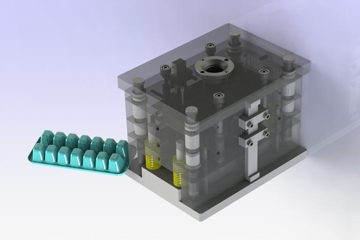 پروژه مدلسازی قالب تولید ظروف بستنی