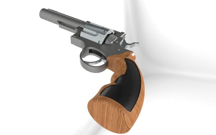 پروژه مدلسازی اسلحه کلت در سالیدورکز