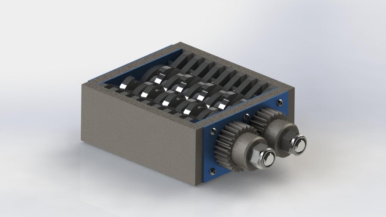 پروژه مدلسازی  خردکن فلزات زائد