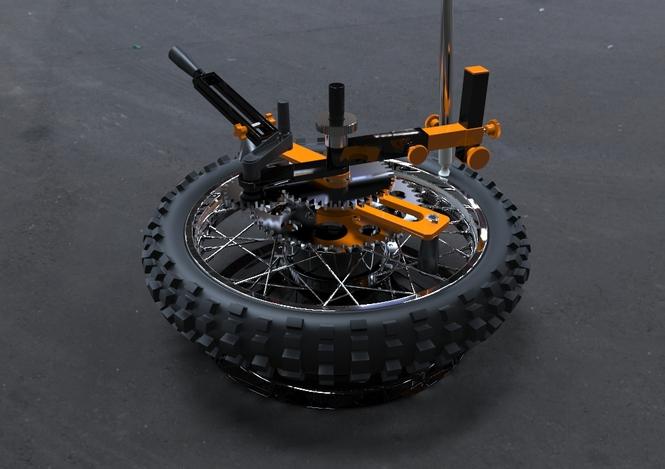 پروژه مدلسازی لاستیک موتور